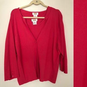 Talbots pink sweater set
